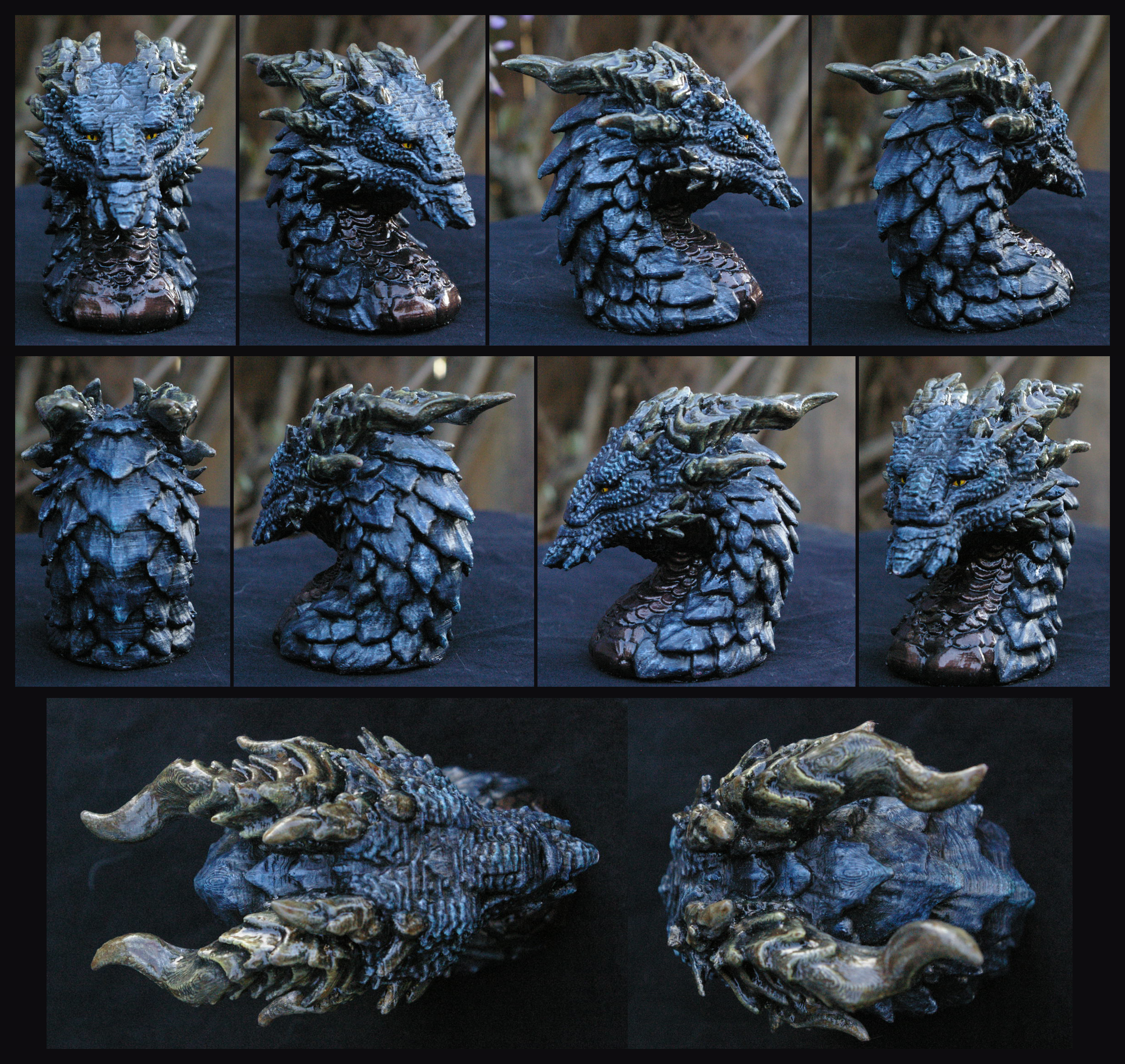 Dragon Bust on etsy by Vertaki
