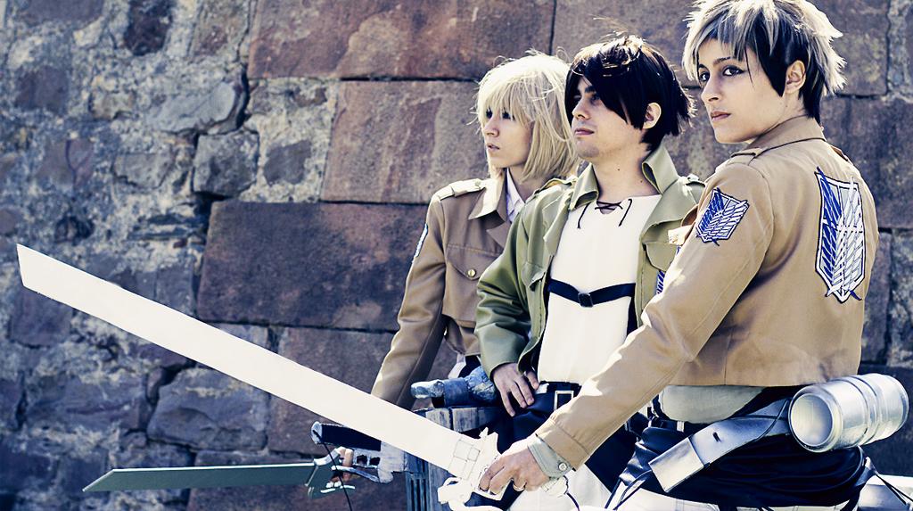 Armin, Eren and Jean. Shingeki no Kyojin. by Sandrichan