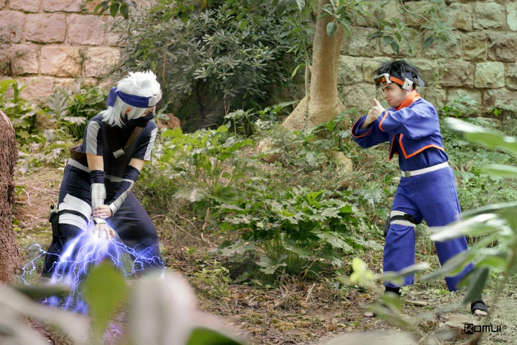 Fight. Kakashi Gaiden. Naruto. by Sandrichan