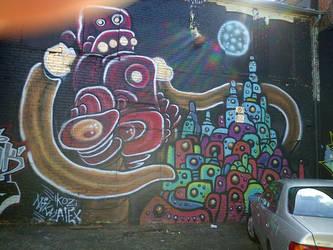 grafiti sock monkey by thegreatbobinsky