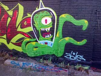 graffiti futurama-ish alien by thegreatbobinsky