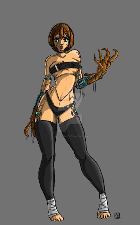 Cyborg gal' by latinplushie