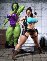 Lara vs Shehulk 1