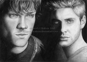 Supernatural: Winchester bros by Ilojleen