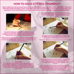 Tutorial:how to hold a pencil? by Ilojleen
