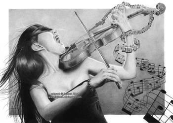 The true violinist by Ilojleen