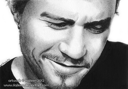 Heath Ledger ACEO by Ilojleen