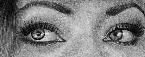 A preview of a pencil portrait in progress