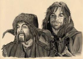 Bofur and Kili by Ilojleen