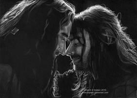 Thorin Oakenshield and Kili by Ilojleen