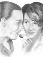 Chocolate : Johnny Depp and Juliette Binoche by Ilojleen