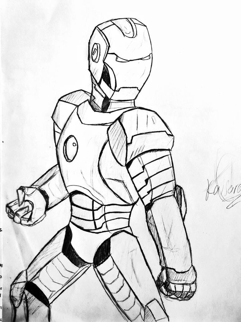 Iron Man Sketch By Hellpato777 On Deviantart
