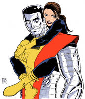 Colossus and Shadowcat by ReillyBrown