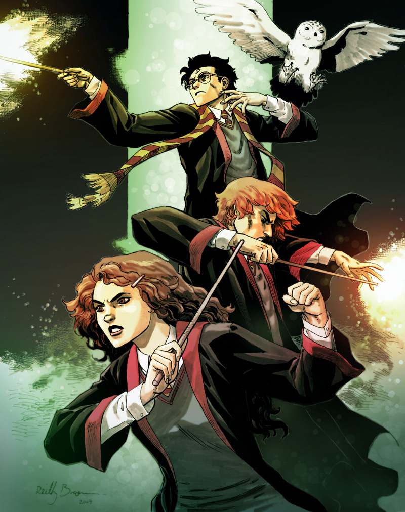 Harry Potter Series Harry__Potter_by_ReillyBrown