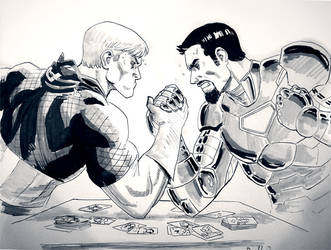 Cap vs Iron Man by ReillyBrown
