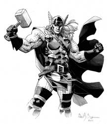 Thor, God of Thunder by ReillyBrown