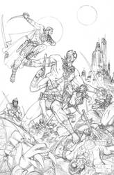 John Carter of Mars pencils by ReillyBrown