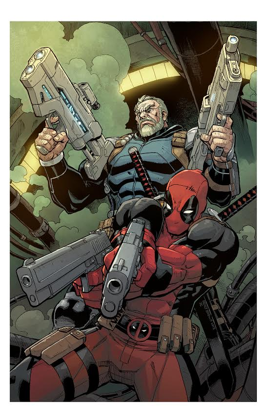 Deadpool and Cable Split Second by ReillyBrown
