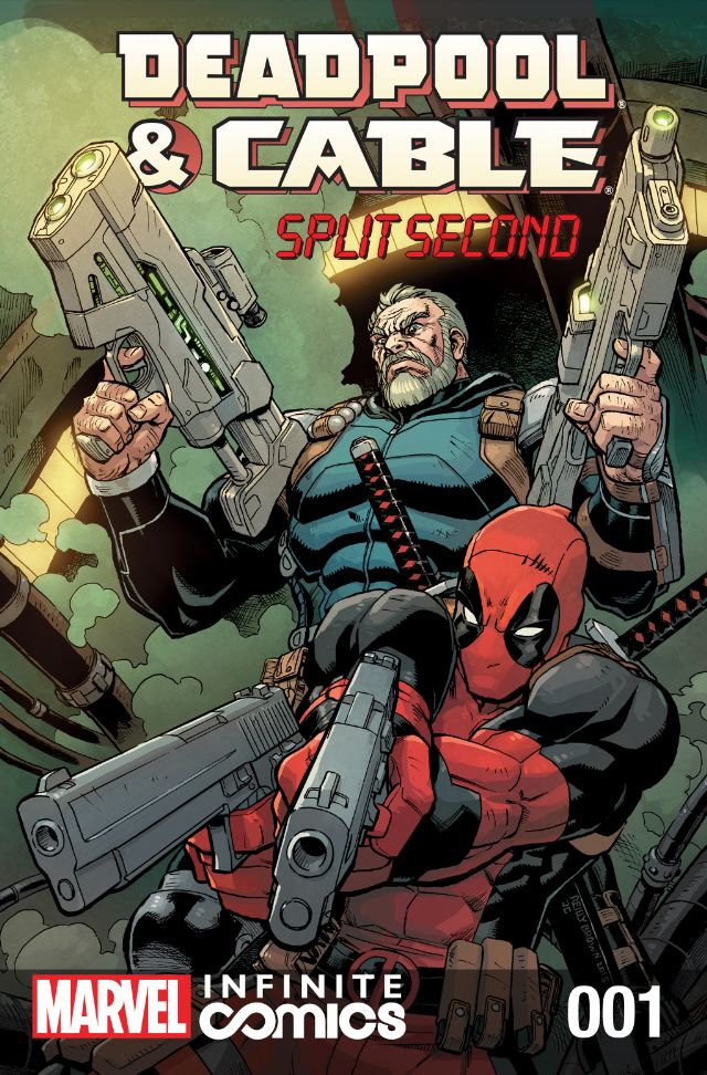 Deadpool and Cable Split Second 1 by ReillyBrown