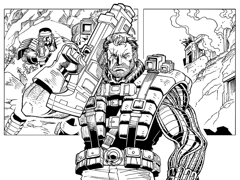 Deadpool Cable, Split Second 5 by ReillyBrown