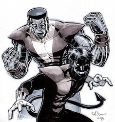 Colossus and Nightcrawler by ReillyBrown