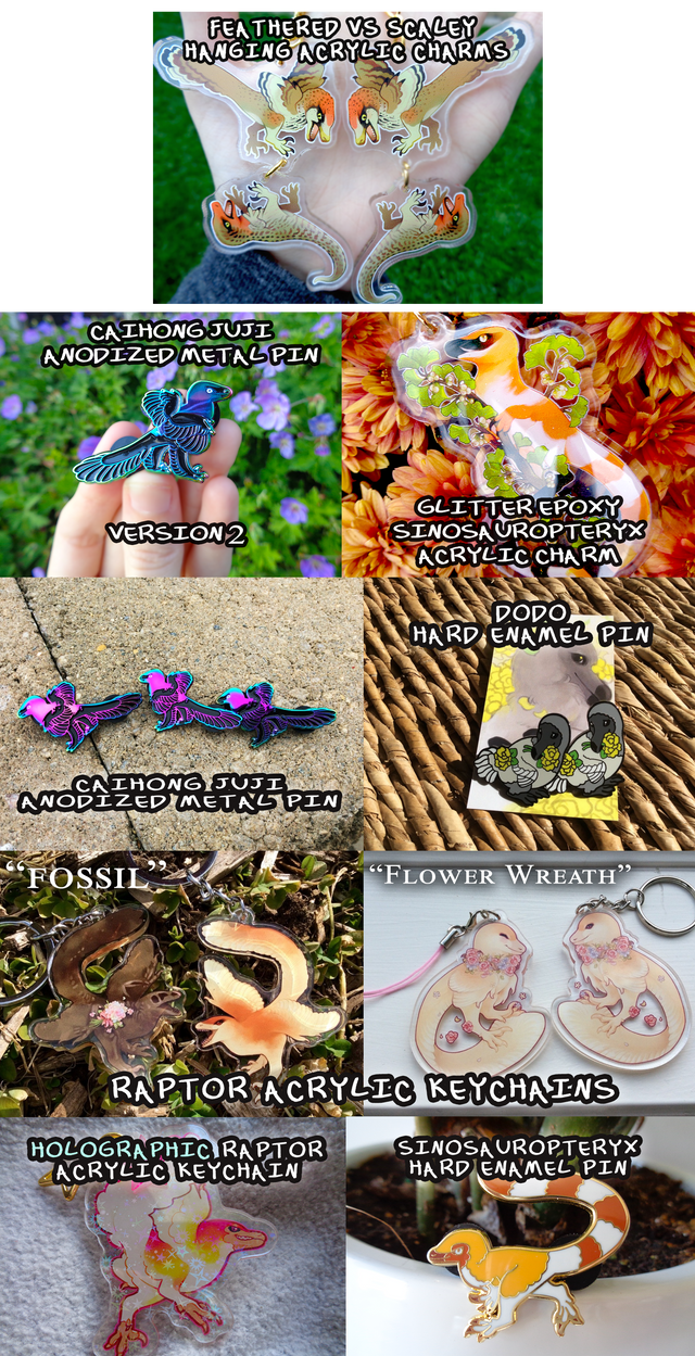 DINOSAUR PINS AND CHARMS (PRICE CHANGE) by edelilah on DeviantArt