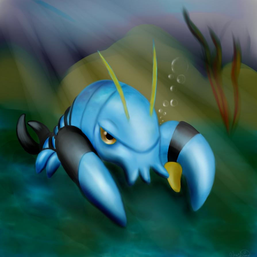 Clauncher - Pokemon X by SaraCorgi