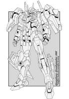 Gundam Avalanche 00 Line Art by aliffarhan