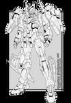 Gundam Avalanche 00 Line Art