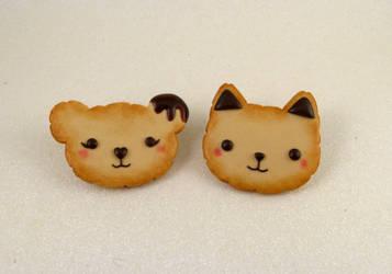 Cookie animals pins -FOR SALE- by wonderfluid