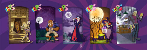 Flips Halloween Characters by alexmax