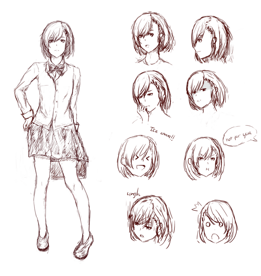 Character sketch by Yuu-DA