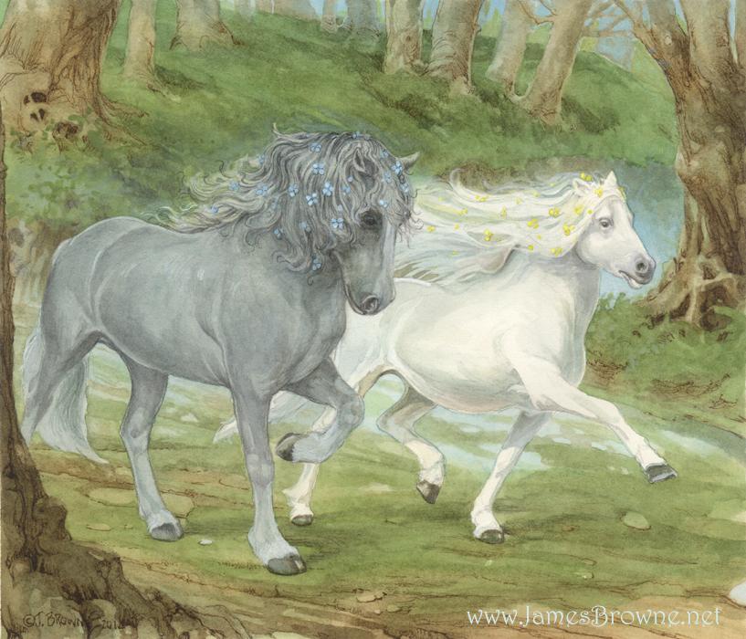 Moonlight Horses by yaamas