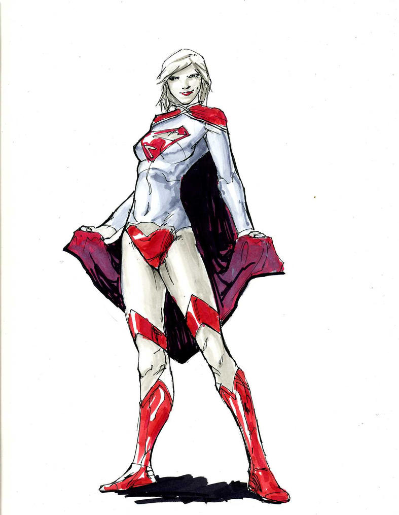 Supergirl - copic by PhilipSasko
