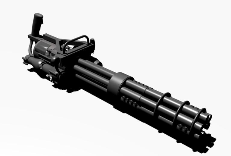 Как сделать стреляющий миниган 128