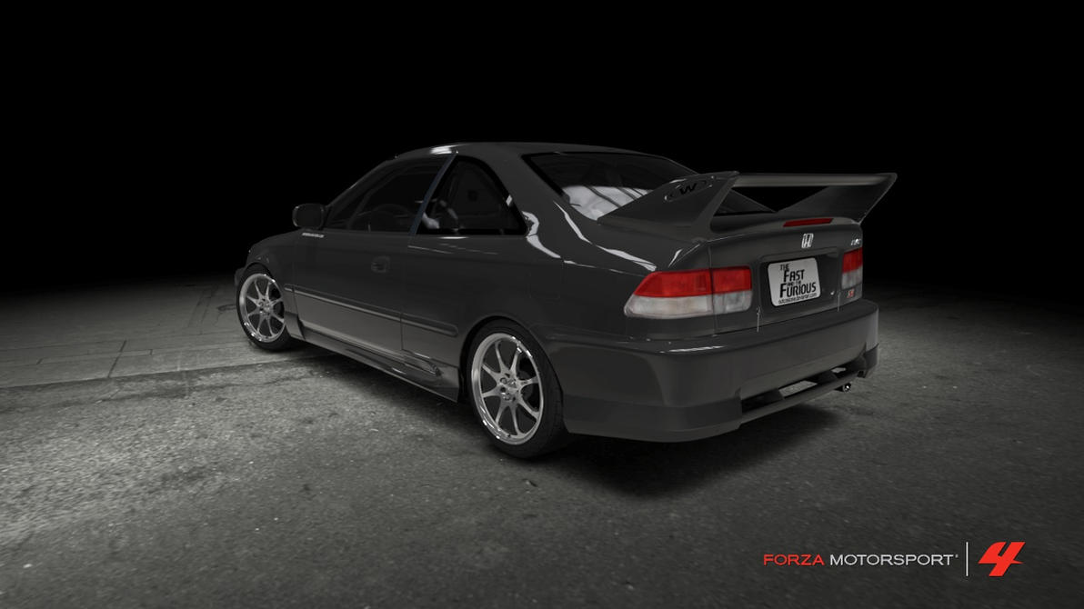 honda civic si coupe the fast and the furious by outcastone on deviantart. Black Bedroom Furniture Sets. Home Design Ideas