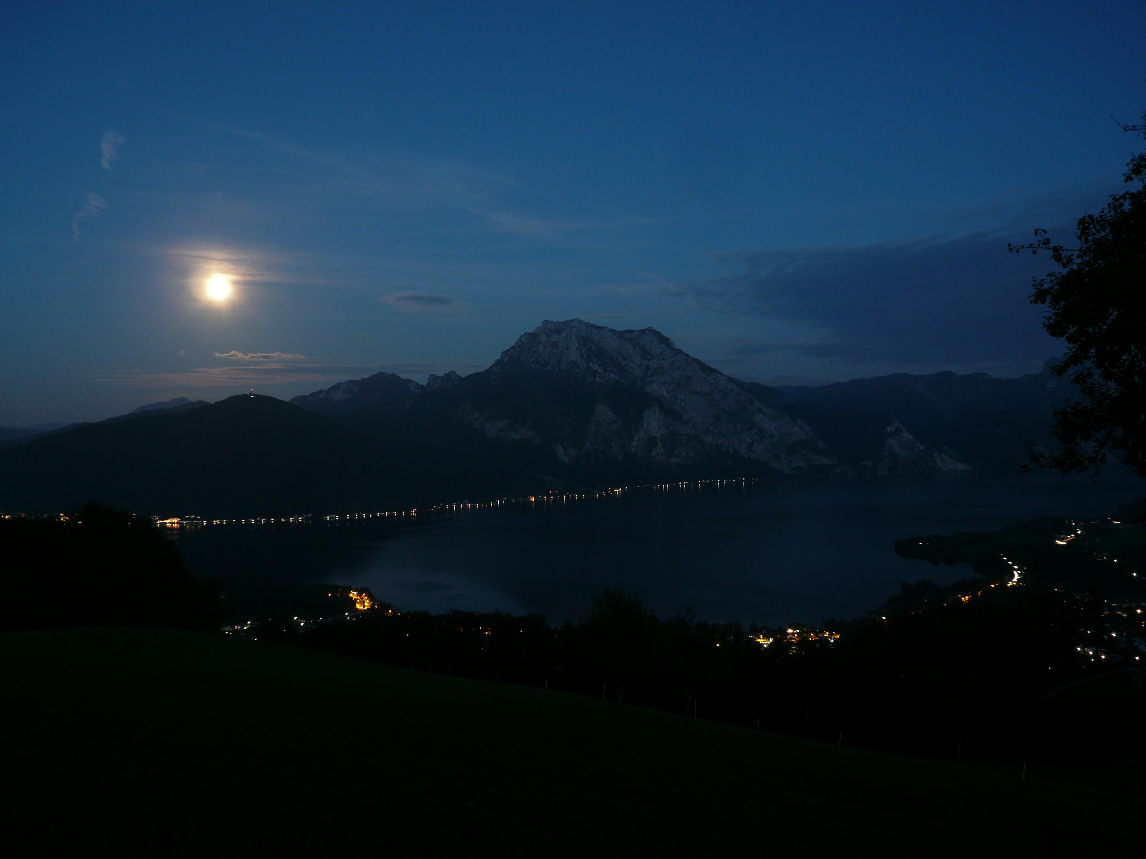 Mountain lake at night 1 by HolzOnkel on DeviantArt