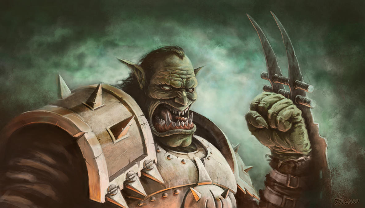 Orc threatening by PhanouArt