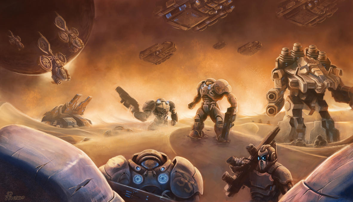Starcraft Terran Legion by PhanouArt