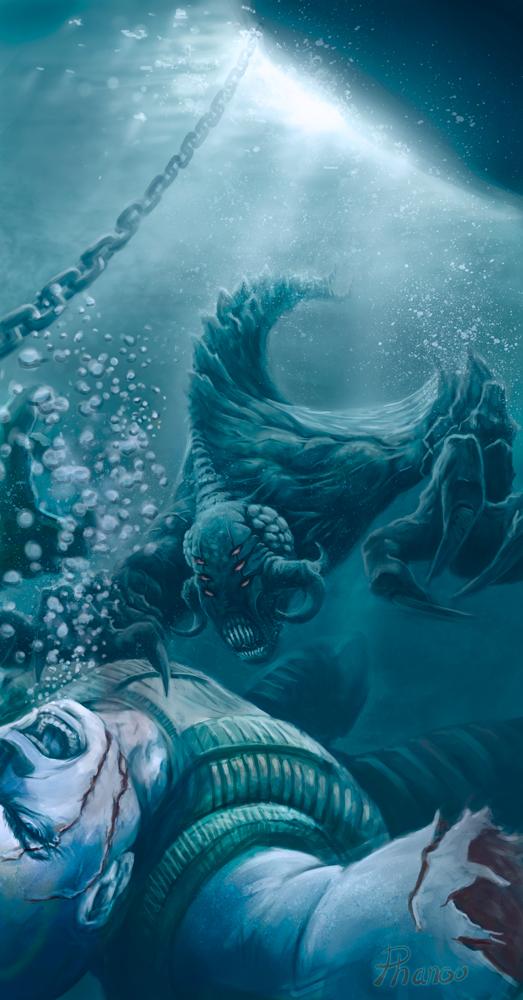 Aqua monster by PhanouArt