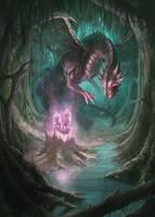 Awaken Destruction - Dragon crystal Guardian by PhanouArt