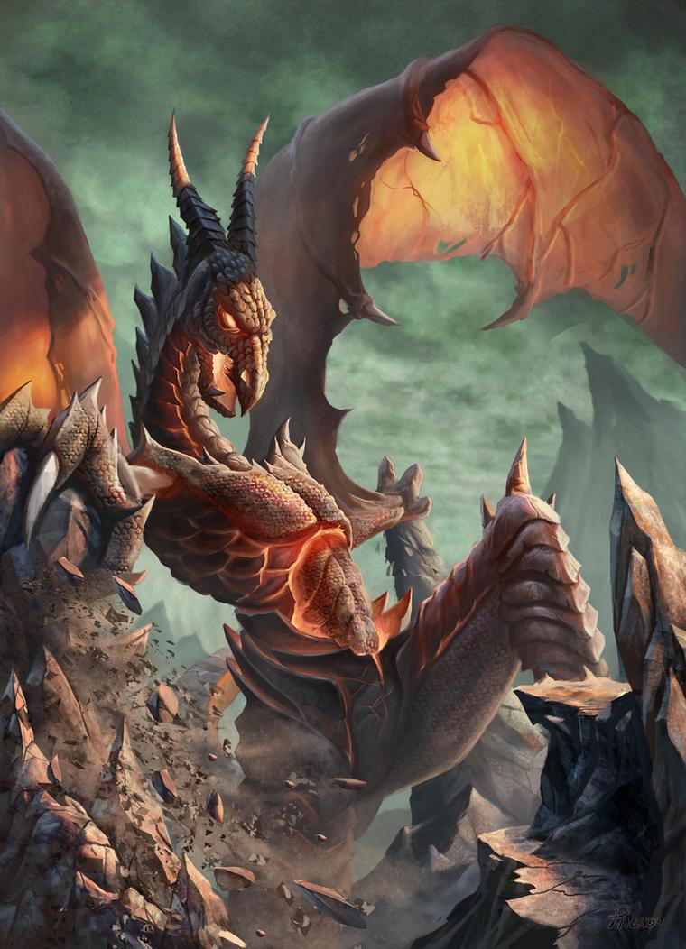 Dragon Destruction by PhanouArt