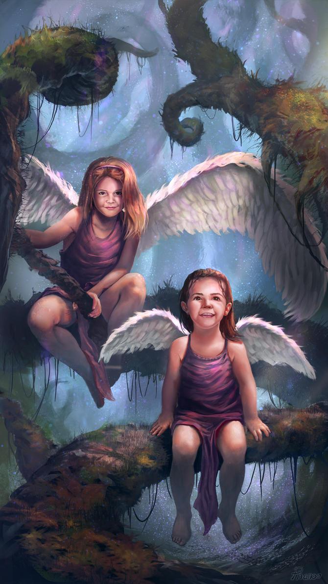 Phanou My_2_angels_by_phanouart-d92xk0a
