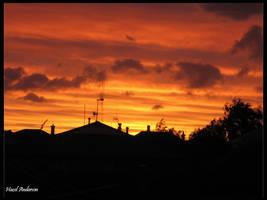 Burning sky by hazeldazel