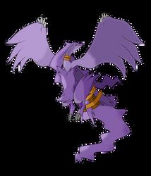 Purple Reshiram 3 by WhiteWolfBlanca