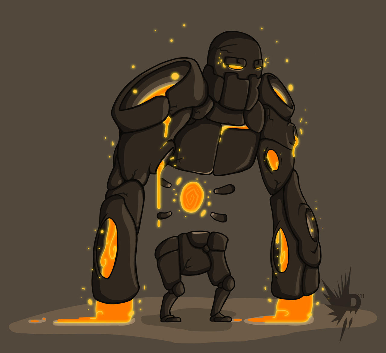Rock-Lava Golem by Vakoto