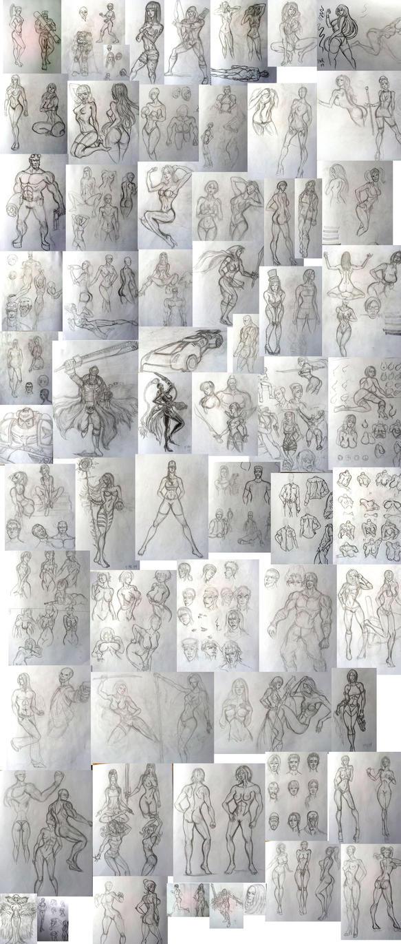2014 Sketchdump pencils 1 by fmralchemist
