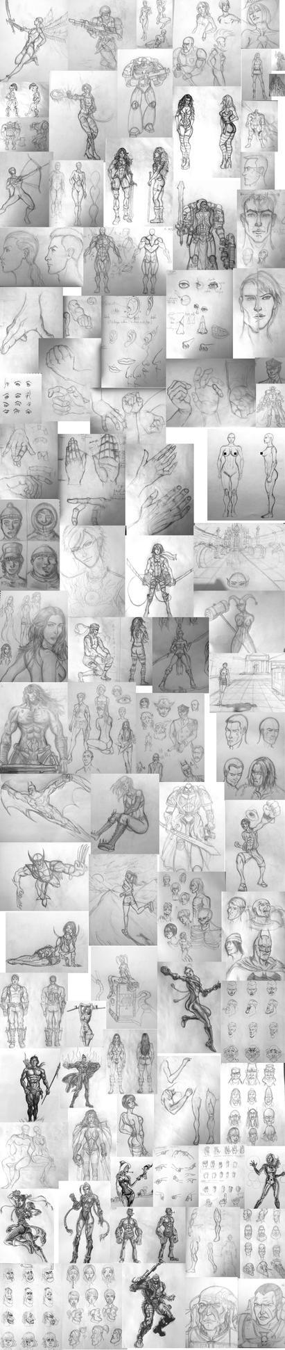 2014 Sketchdump pencils 2 by fmralchemist