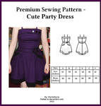 Premium Sewing Pattern - Cute Party Dress