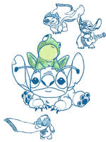 Stitch Doodlies by packAndwhite241993